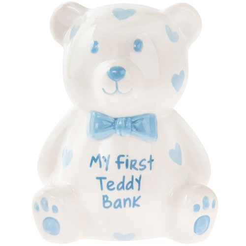 My First Money Bank Bear Large Blue